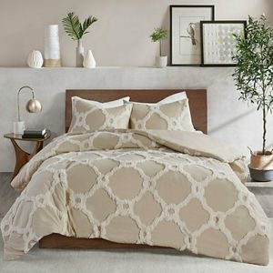 Madison Park Pacey Taupe Duvet Cover Set
